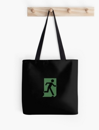 Running Man Exit Sign Tote Shoulder Carry Bag 97