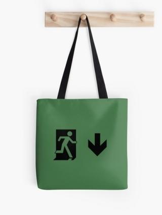 Running Man Exit Sign Tote Shoulder Carry Bag 98