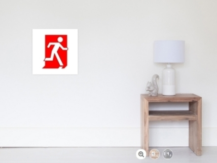 Running Man Exit Sign Wall Poster 1