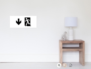 Running Man Exit Sign Wall Poster 101