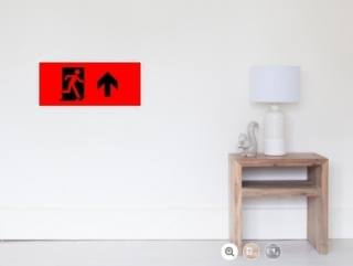 Running Man Exit Sign Wall Poster 103
