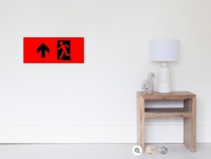 Running Man Exit Sign Wall Poster 109