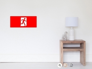 Running Man Exit Sign Wall Poster 11