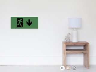 Running Man Exit Sign Wall Poster 119