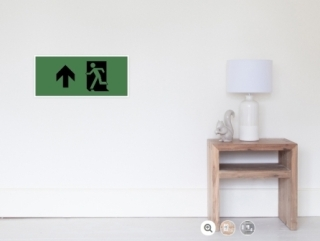 Running Man Exit Sign Wall Poster 120