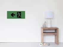 Running Man Exit Sign Wall Poster 121