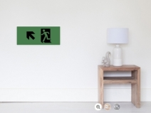 Running Man Exit Sign Wall Poster 122