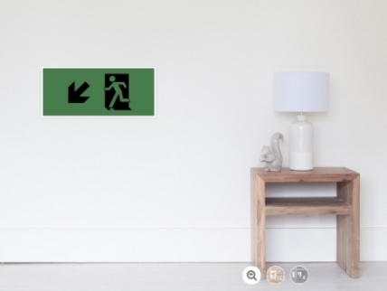 Running Man Exit Sign Wall Poster 123