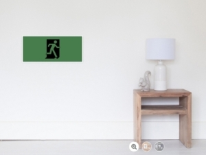Running Man Exit Sign Wall Poster 125