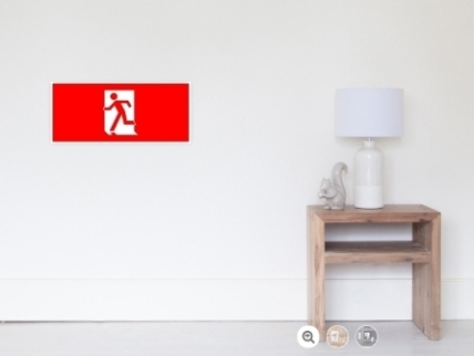 Running Man Exit Sign Wall Poster 17