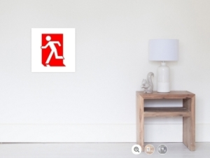 Running Man Exit Sign Wall Poster 2