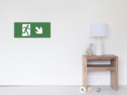 Running Man Exit Sign Wall Poster 22