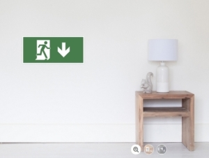Running Man Exit Sign Wall Poster 23