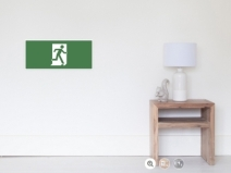 Running Man Exit Sign Wall Poster 24