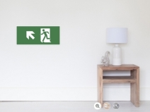 Running Man Exit Sign Wall Poster 27