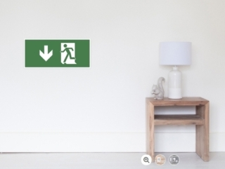 Running Man Exit Sign Wall Poster 29