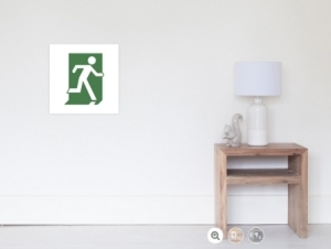 Running Man Exit Sign Wall Poster 3