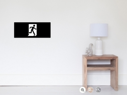 Running Man Exit Sign Wall Poster 36