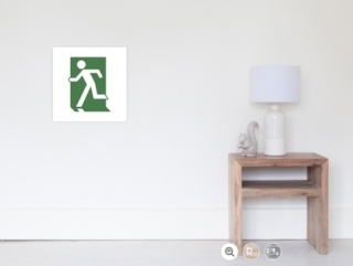 Running Man Exit Sign Wall Poster 4
