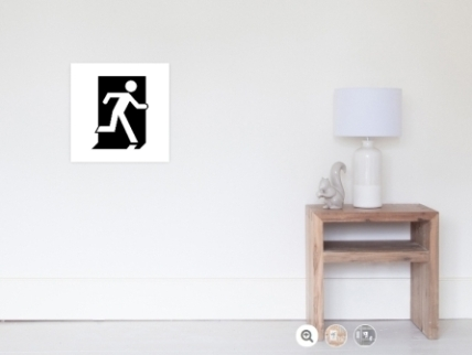 Running Man Exit Sign Wall Poster 5