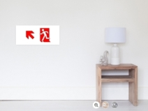 Running Man Exit Sign Wall Poster 51