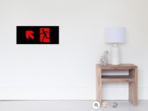 Running Man Exit Sign Wall Poster 63