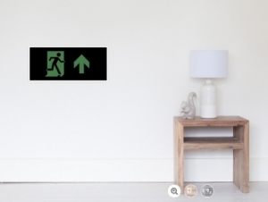 Running Man Exit Sign Wall Poster 79