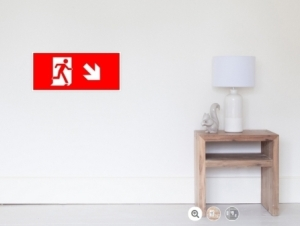 Running Man Exit Sign Wall Poster 8