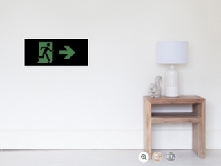 Running Man Exit Sign Wall Poster 80