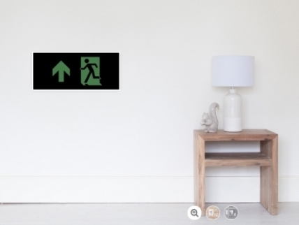 Running Man Exit Sign Wall Poster 85