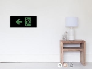 Running Man Exit Sign Wall Poster 86