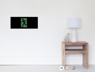 Running Man Exit Sign Wall Poster 90