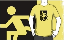 Accessible Means of Egress Icon Adult t-shirt 1