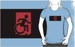 Accessible Means of Egress Icon Adult t-shirt 10