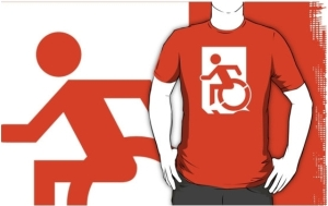 Accessible Means of Egress Icon Adult t-shirt 101
