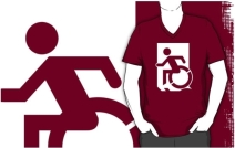 Accessible Means of Egress Icon Adult t-shirt 103