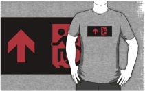 Accessible Means of Egress Icon Adult t-shirt 11