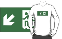 Accessible Means of Egress Icon Adult t-shirt 110
