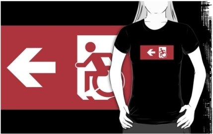 Accessible Means of Egress Icon Adult t-shirt 113