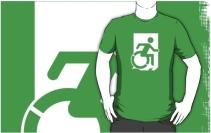 Accessible Means of Egress Icon Adult t-shirt 114