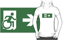 Accessible Means of Egress Icon Adult t-shirt 116