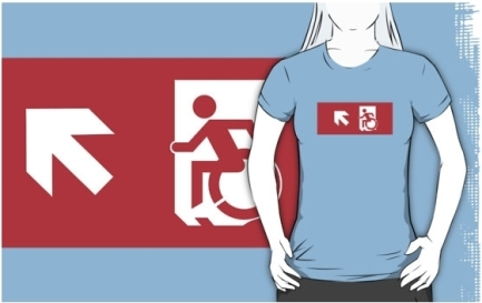 Accessible Means of Egress Icon Adult t-shirt 118