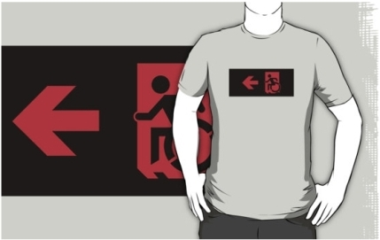 Accessible Means of Egress Icon Adult t-shirt 12