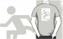 Accessible Means of Egress Icon Adult t-shirt 121