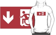 Accessible Means of Egress Icon Adult t-shirt 123