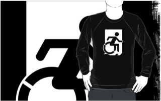 Accessible Means of Egress Icon Adult t-shirt 124