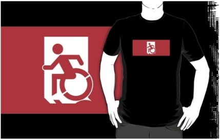 Accessible Means of Egress Icon Adult t-shirt 125