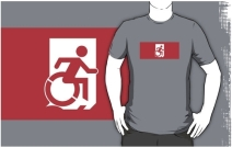 Accessible Means of Egress Icon Adult t-shirt 127