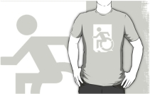 Accessible Means of Egress Icon Adult t-shirt 128