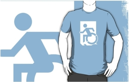 Accessible Means of Egress Icon Adult t-shirt 130